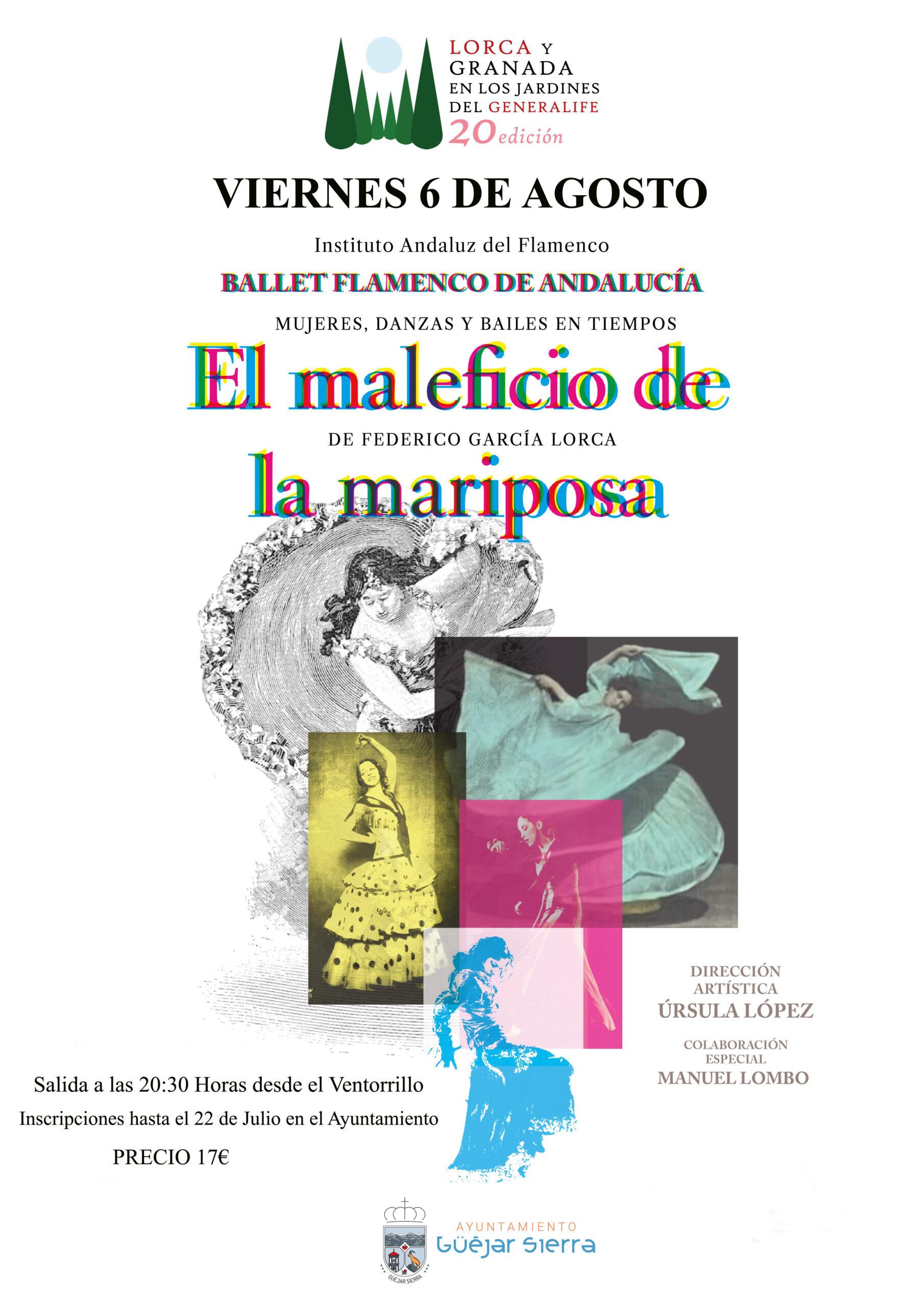"""""""El Maleficio de la mariposa"""". Lorca y Granada en los Jardines del Generalife"""