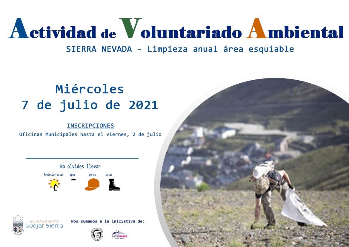 Actividad Voluntariado Sierra Nevada