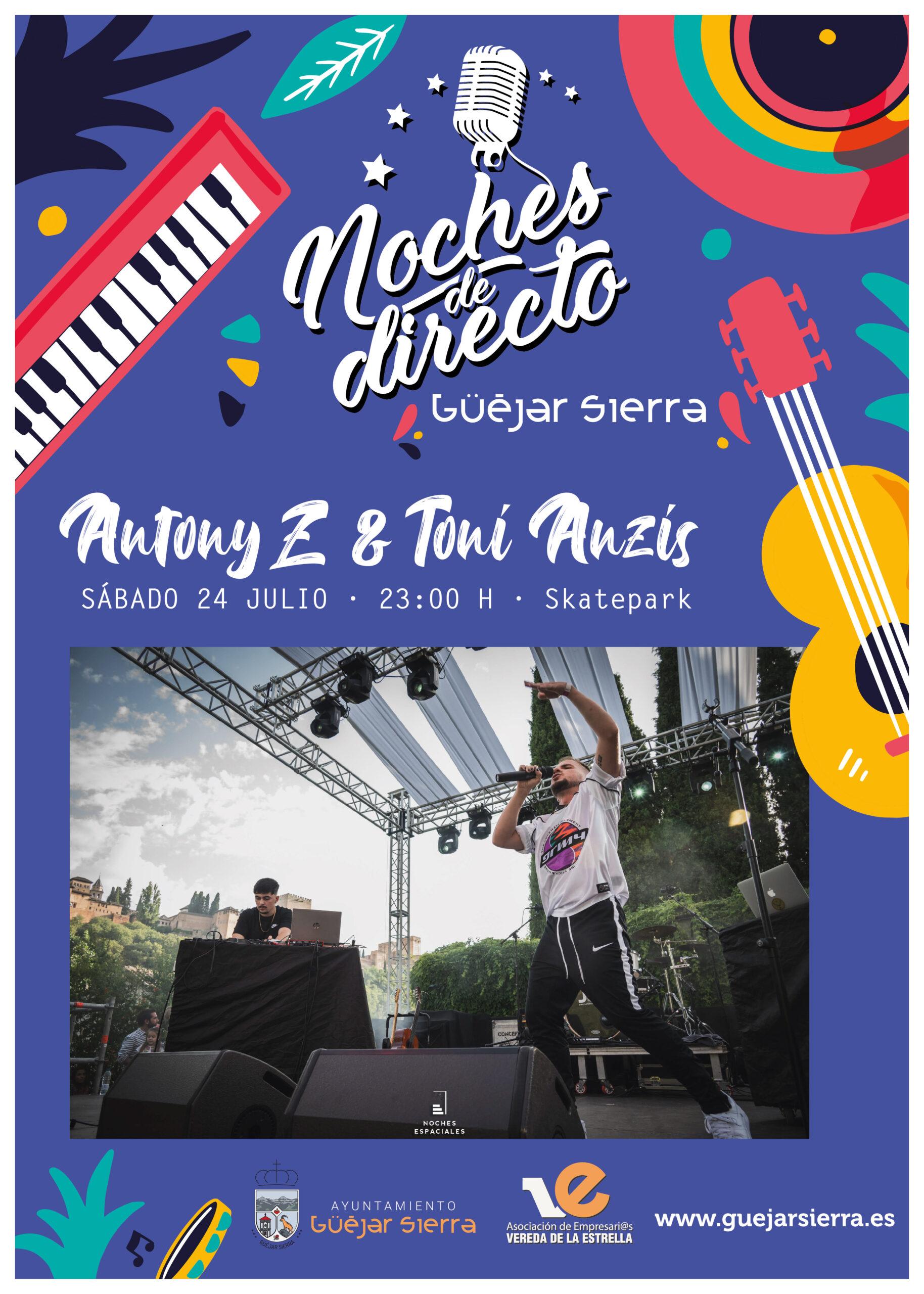 NOCHES DE DIRECTO – Antony Z & toni anzis (Mandela show)