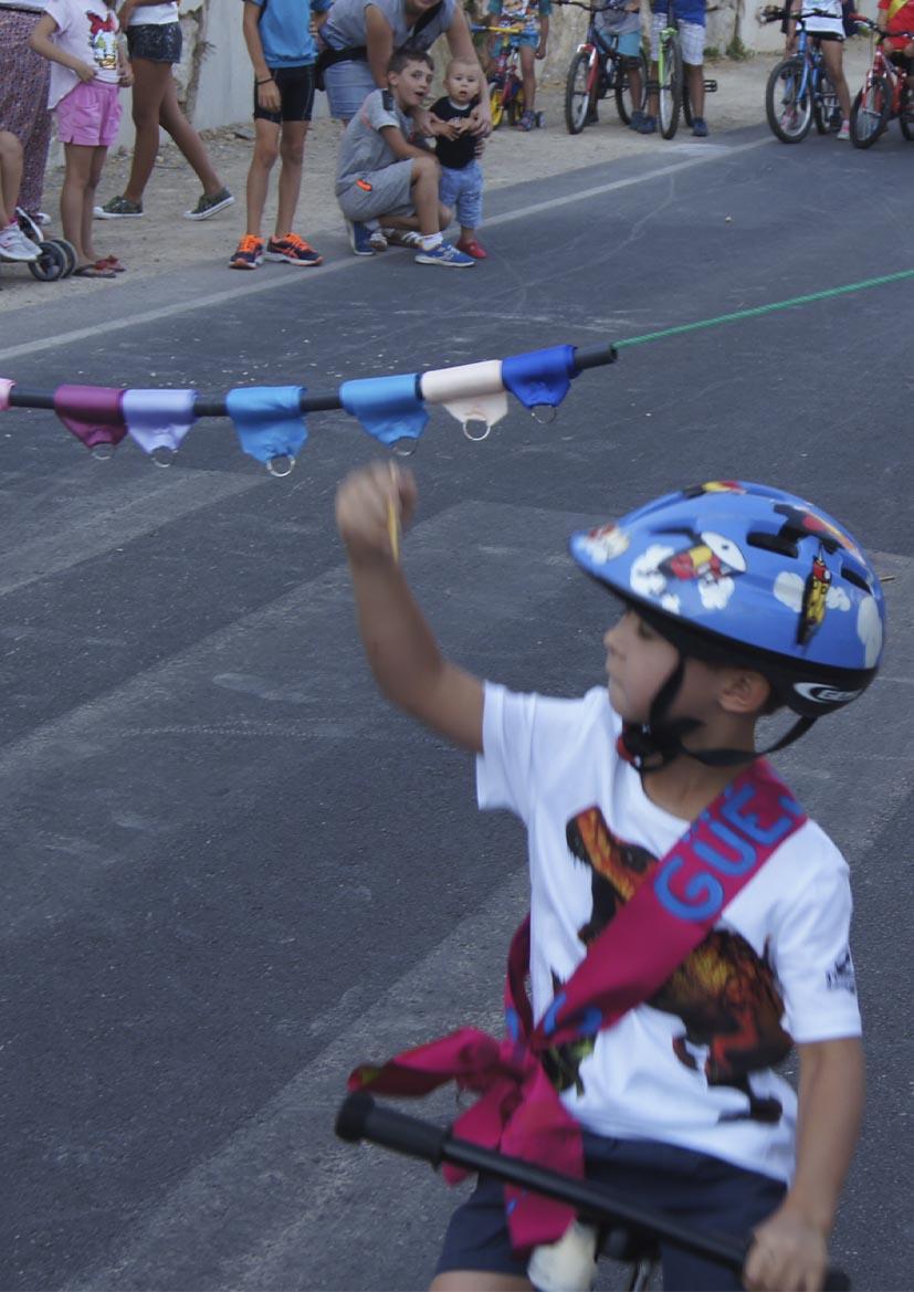 FIESTAS PATRONALES 2021- Carreras de cintas en bicicleta o patines (menores 7 años)