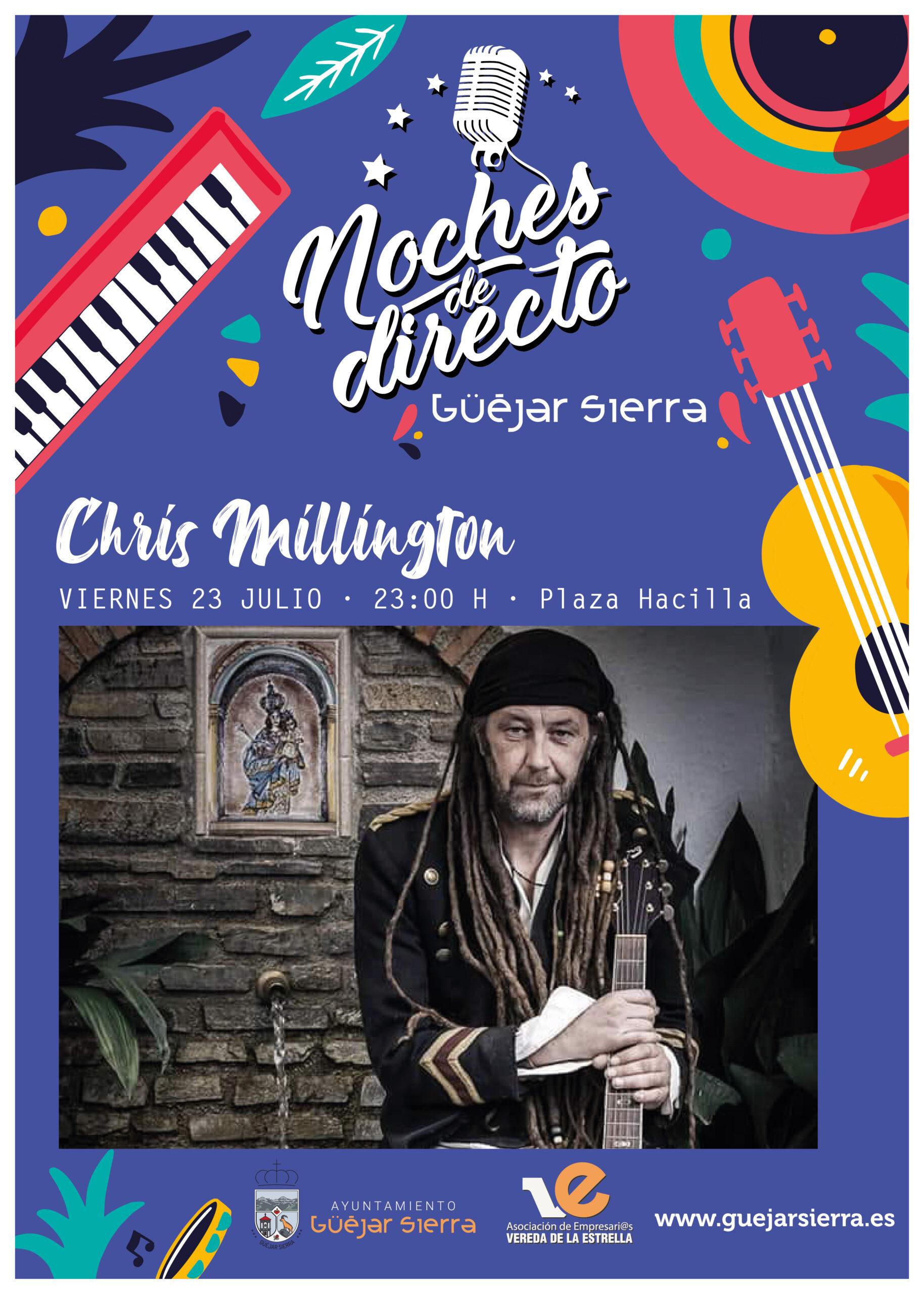 NOCHES DE DIRECTO – CHRIS MILLINGTON (Folk contemporáneo)