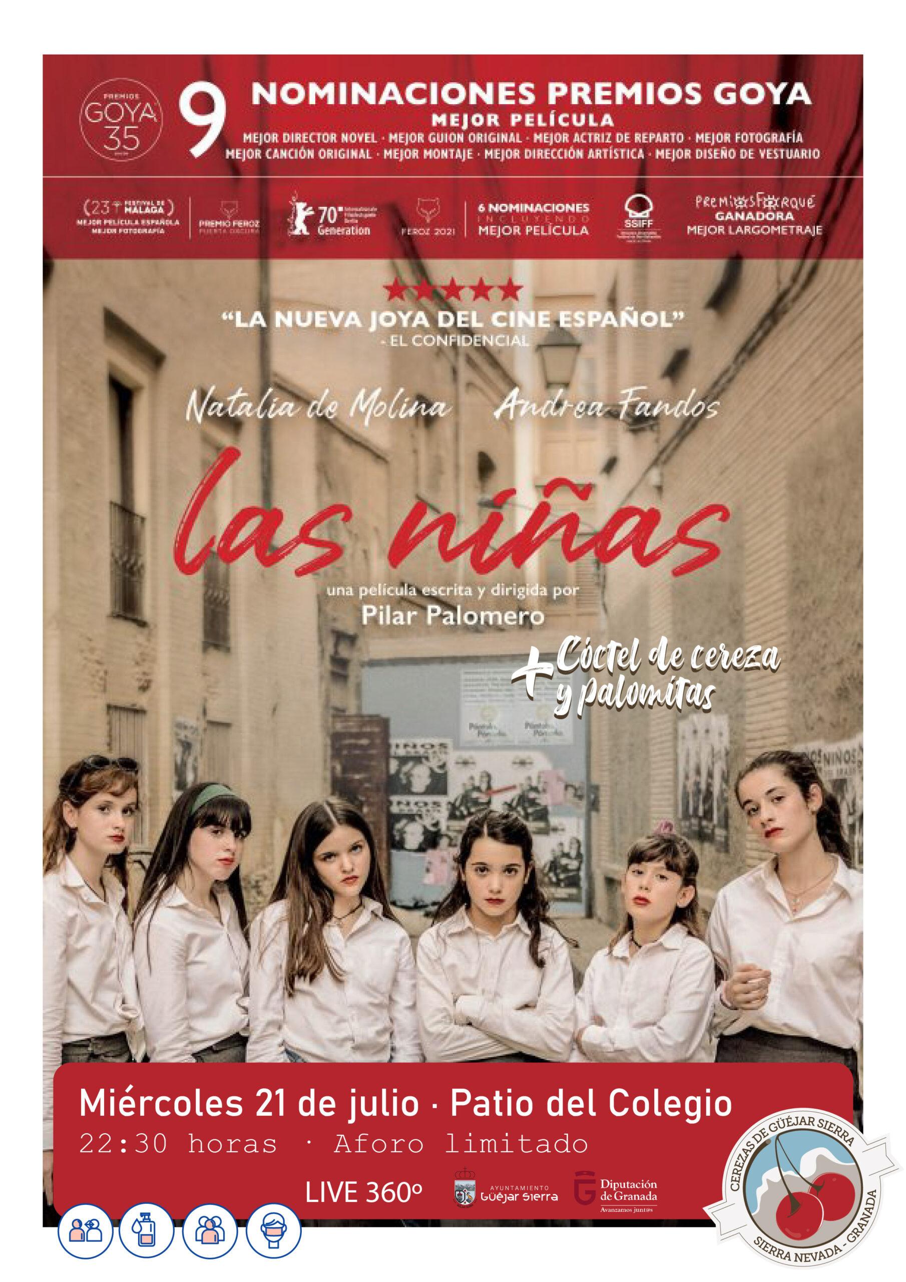 "JORNADAS CEREZA – Cine de verano ""Las Niñas"""