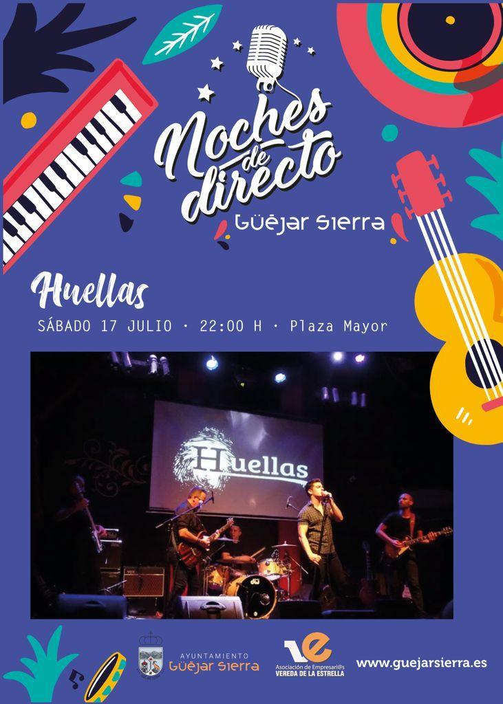 NOCHES DE DIRECTO – Huellas (Tributo Pop Rock 70′ a nuestros días)