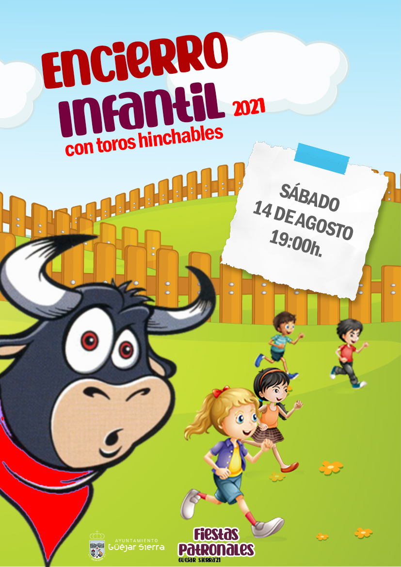 FIESTAS PATRONALES 2021- Encierro infantil con toros hinchables (por venir vestido de blanco se entregará una pañoleta)